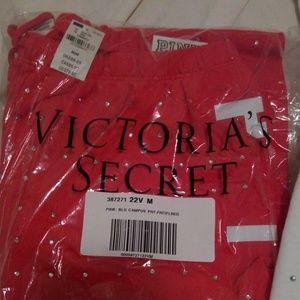 PINK Victoria's Secret Pants - Victoria's Secret PINK Bling Campus Pant Red M NWT